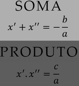 Fórmula da soma e produto