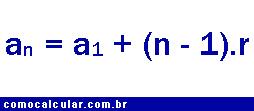 Fórmula do termo geral da PA