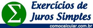 Exercícios de Juros Simples