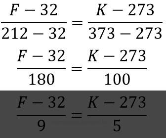 Fahrenheit para Kelvin
