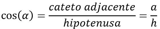 Fórmula do cosseno no triângulo retângulo