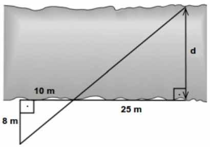 Semelhança de triângulos exercícios resolvidos 05
